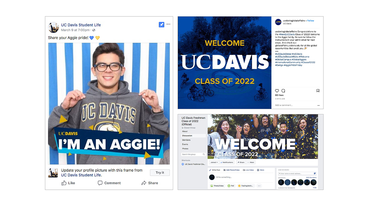 The 2018 admitted students campaign.