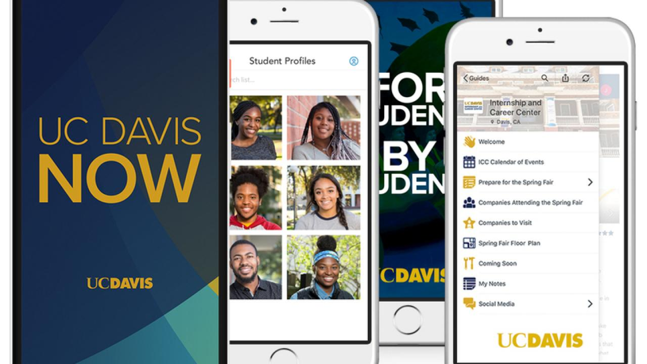 UC Davis Now mobile app